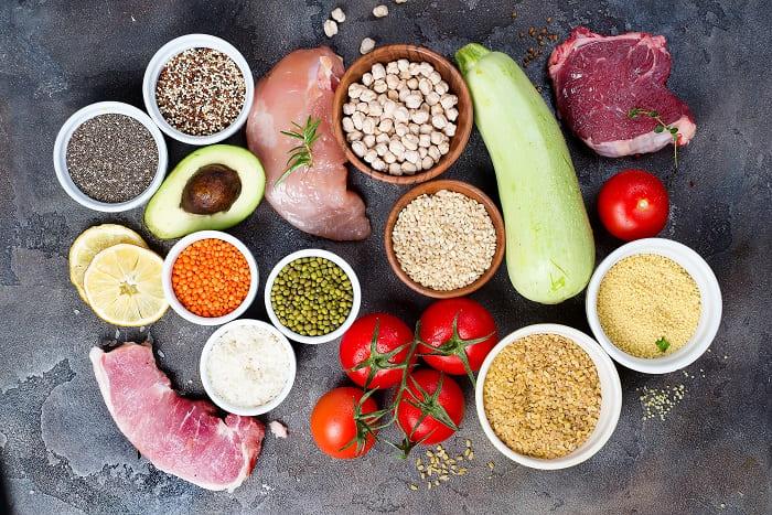 Gesunde Lebensmittel bei Haarverlust